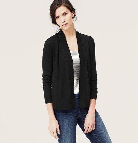 Model open cardigan via ca.lookastic.com