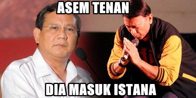 Mungkin aja pak Prabowo iri