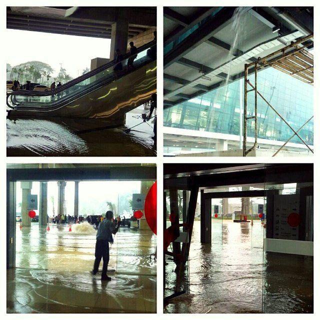 Genangan air di Terminal 3 Ultimate Soetta