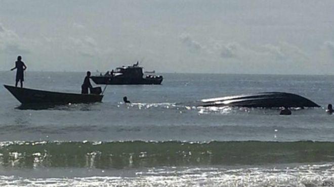 kapal pengangkut TKI yang terbalik dan tenggelam Juli lalu