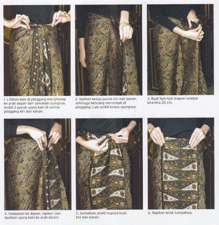 Tutorial Memakai Kain Batik Hanya dengan Dililit Saja Tak