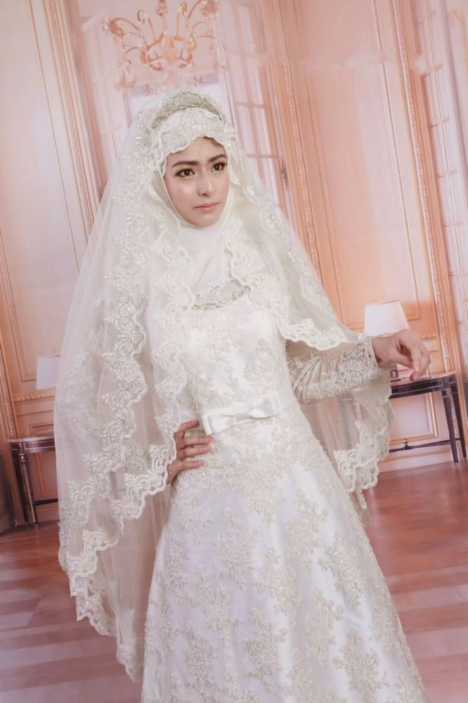 15 inspirasi gaun pernikahan syar i ini bisa dicontek