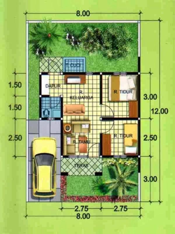 Contoh Denah Rumah Lebar 8 Meter  21 inspirasi desain kamar anak type 36 pusat desain rumah
