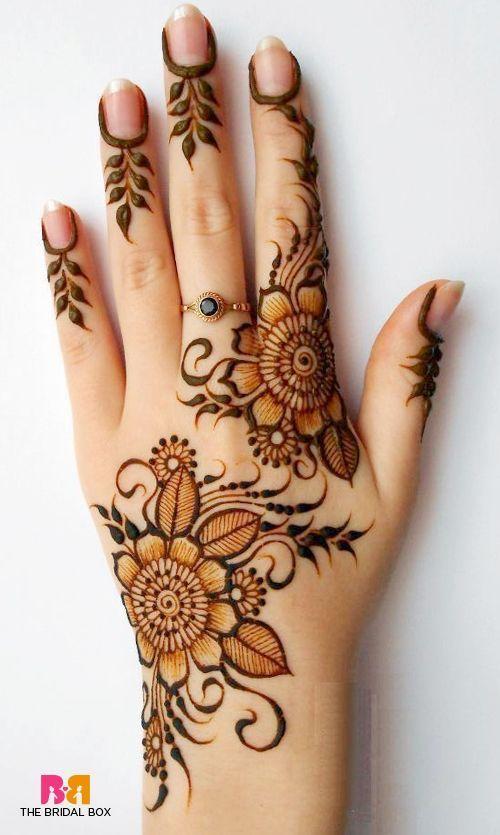 henna desain bunga