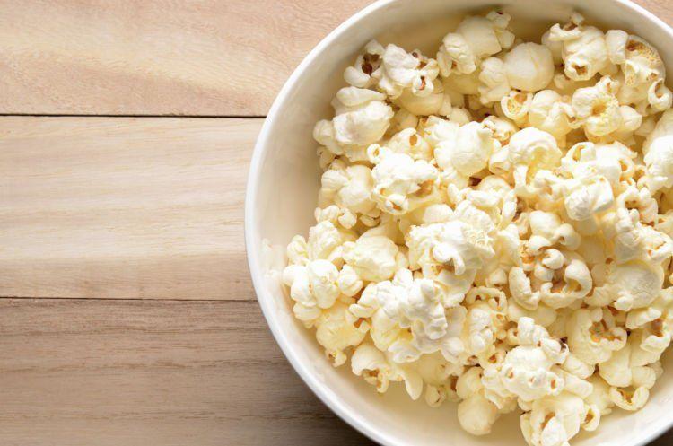 popcorn tanpa mentega dan gula