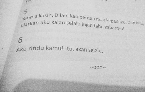 Aku rindu kamu, Dilan