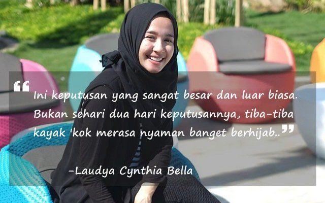 Laudya, aktris yang makin menanjak karirnya setelah berhijab.