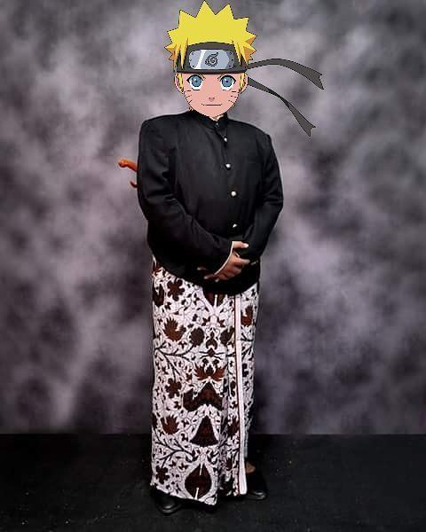 Naruto dan pakaian adat jawa