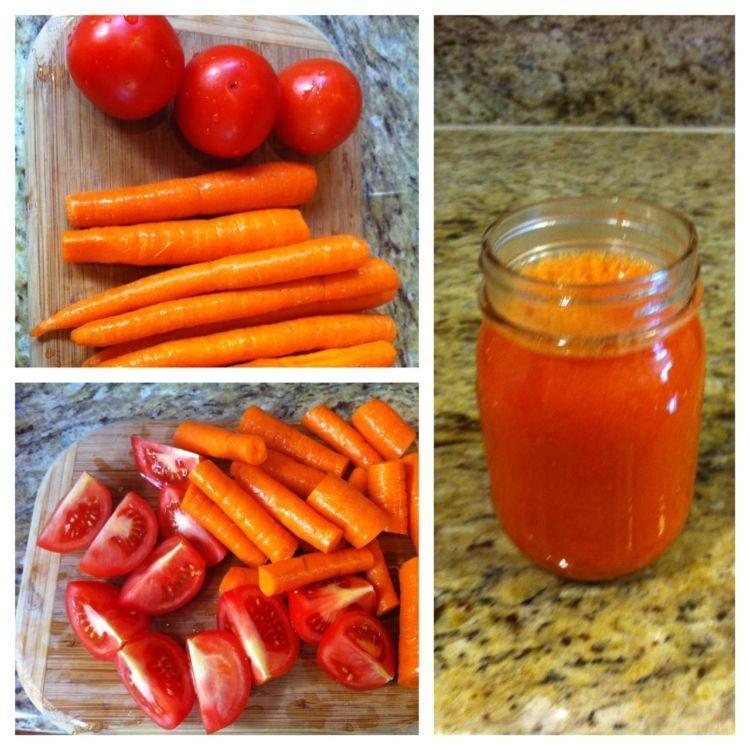 jus wortel campur tomat