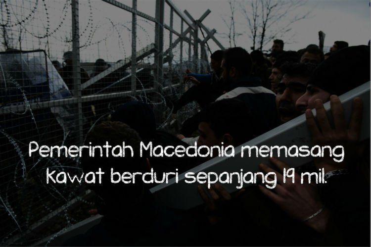 Tak mudah lolos 'gerbang' Macedonia.
