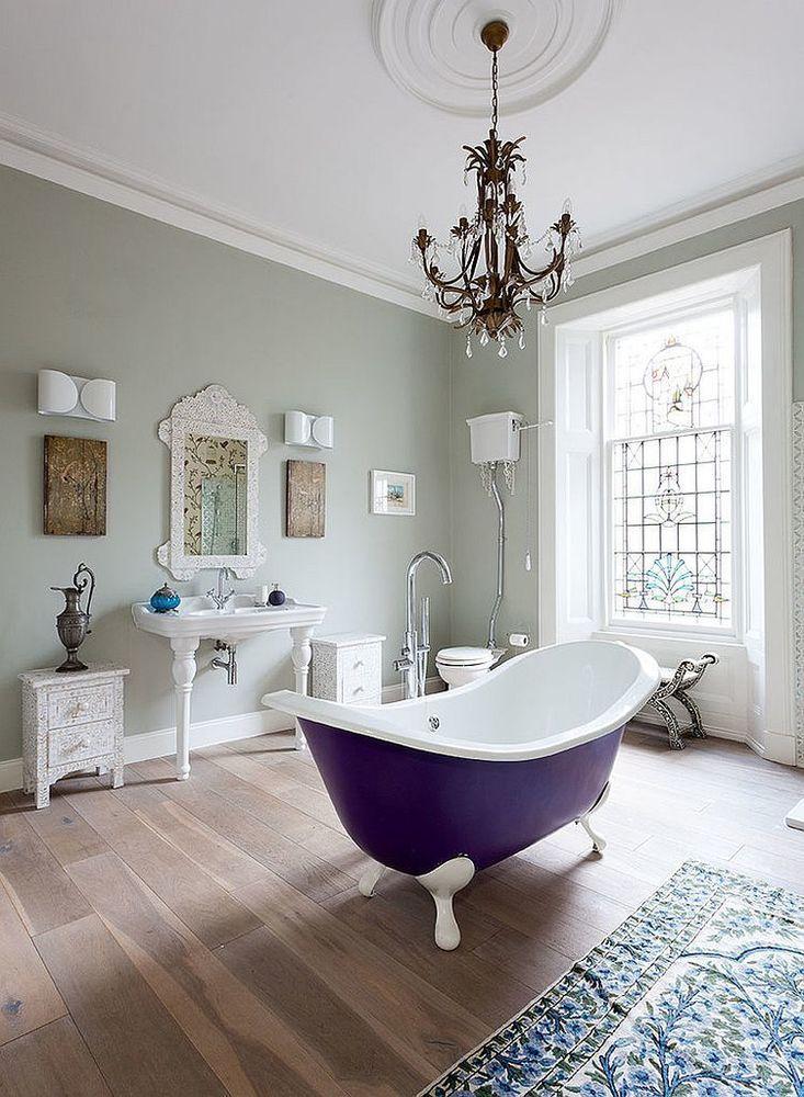 claw-foot-bathtub-in-purple-for-the-chic-modern-bathroom
