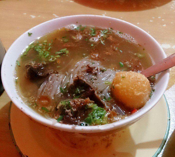 ini dia sup saudara, kerja dulu baru boleh makan