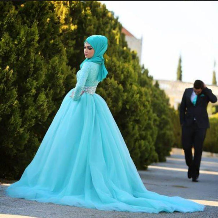 turquoise-lace-ball-gown-muslim-wedding-dresses-with-hijab-2015-long-sleeves-crystals-wedding-gowns-o