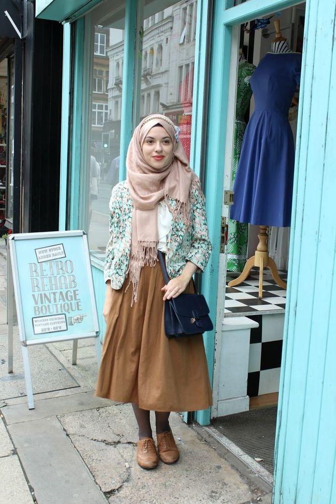 Menuju Cantik 2017 Trik Padu Padan Hijab Baju Vintage Ini Harus Jadi Referensi
