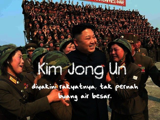 Kim Jong Un begitu dielukan rakyatnya.