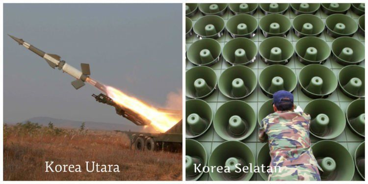 untuk membalas kabar ujicoba bom hidrogen Korut, korsel memutar musik dan k-pop keras-keras dengan speaker di sekitar wilayah korut