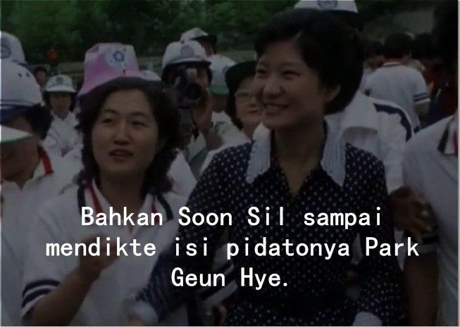 Begitu memengaruhi hidup Geun Hye.
