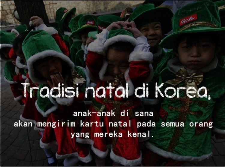 Tradisi Natal di Korea.