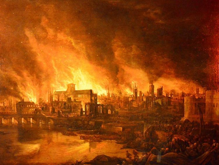 Ilustrasi The Great Fire of London