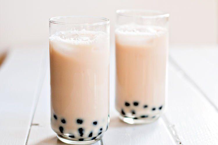 honey milk tea