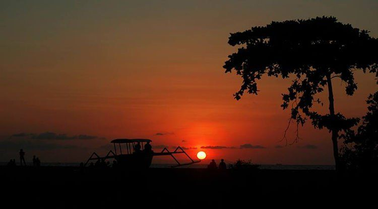senja di lombok