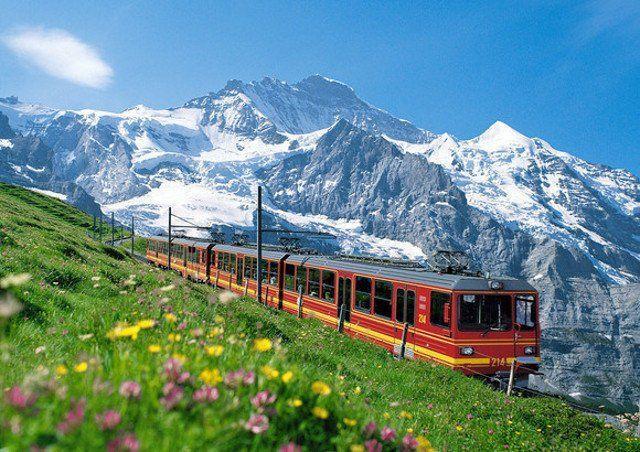 Swis rilis kereta khusus turis Cina untuk mengunjungi Gunung Rigi di Pegunungan Alpen