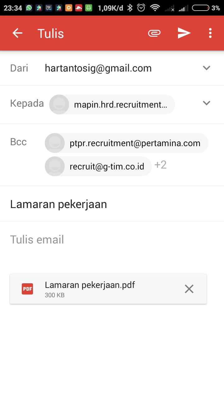subjek email