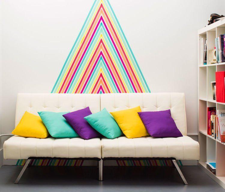 pola warna-warni untuk dinding
