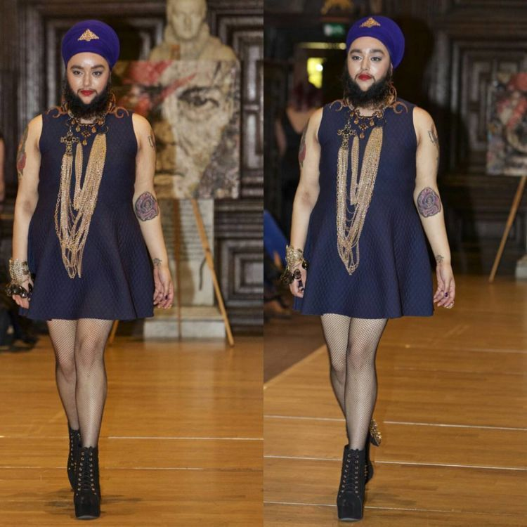 Harnaam Kaur di London Fashion Week