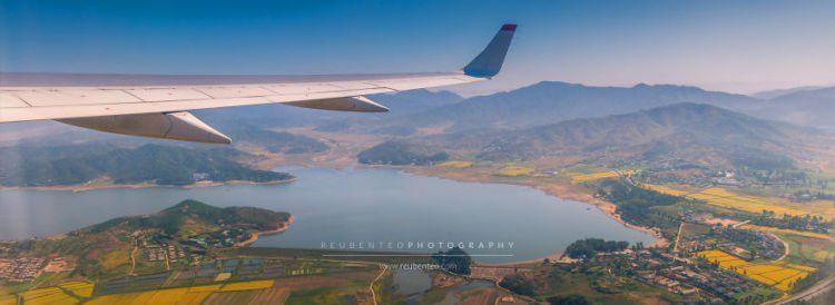 aerial foto korea utara