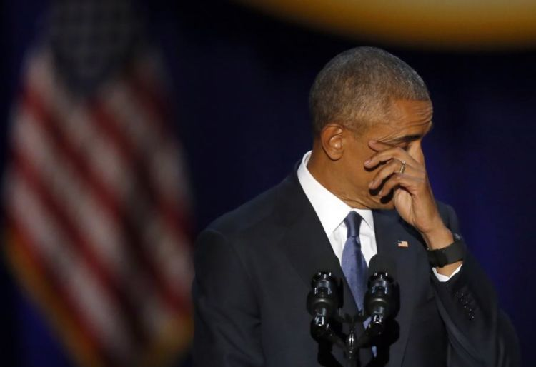 Obama, saat menyampaikan pidato perpisahannya di Chicago, 10 Januari 2017 kemarin.