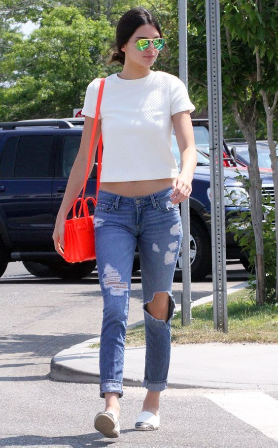 Plain White T from Kendall Jenner's Street Style