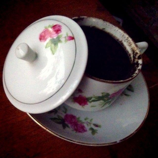 Secangkir kopi argopuro yang nikmat