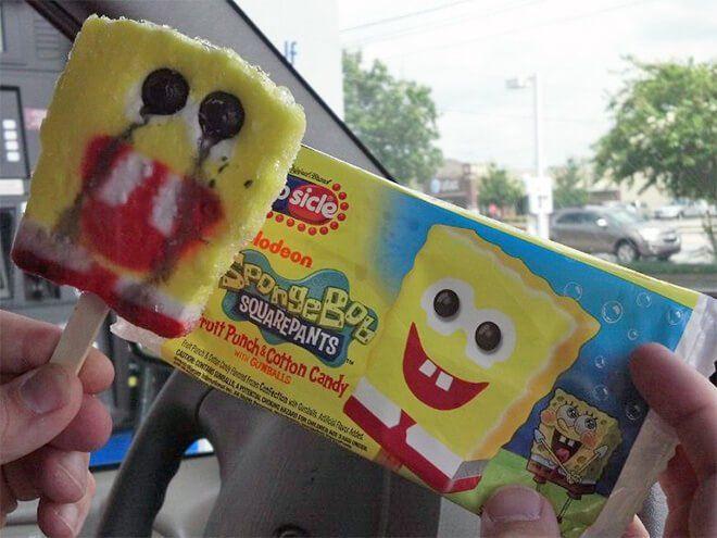 Spongebob-nya sedih :(