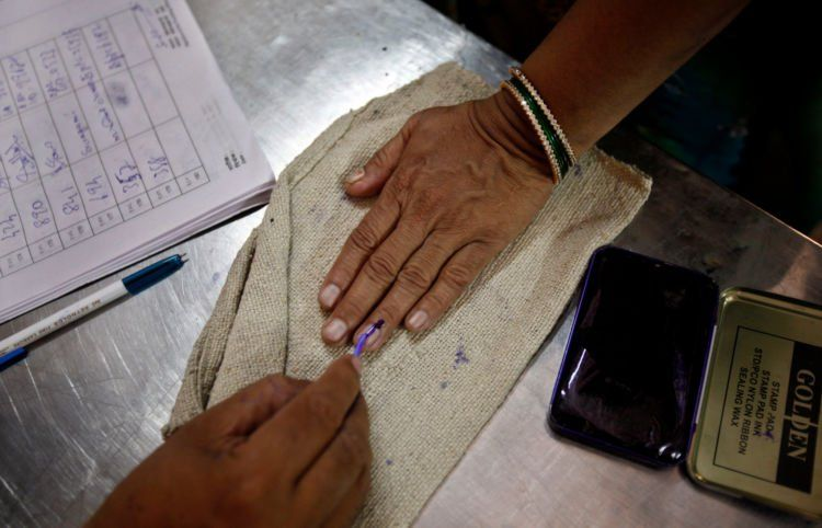 Pemakaian tinta pemilu di India