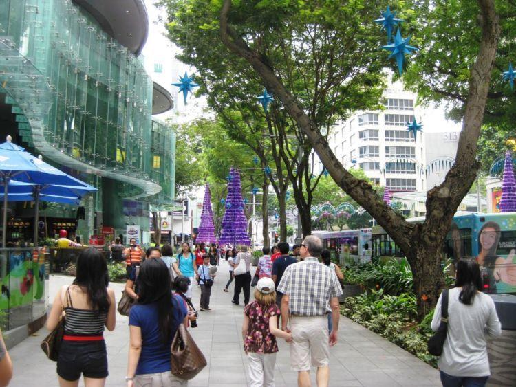 pejalan kaki di SIngapura
