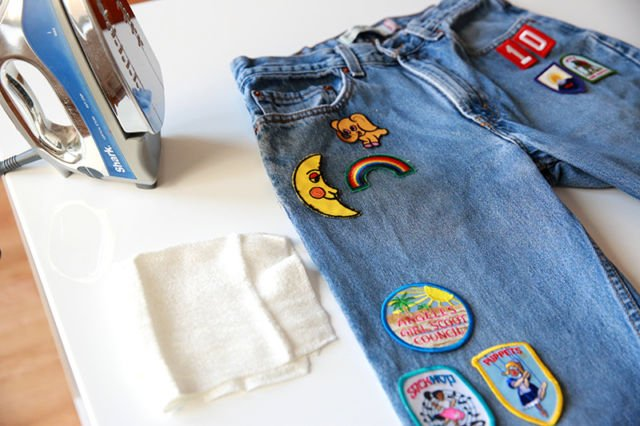 Jeans with Embroidery Patch