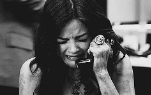 Lucy Hale on the phone