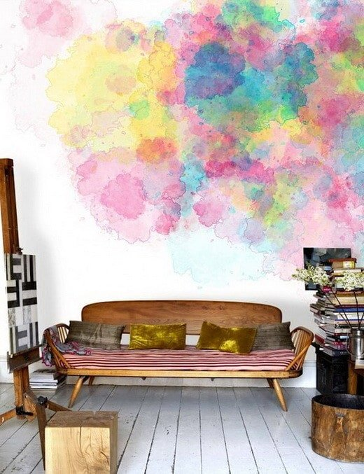 Watercolor wall painting
