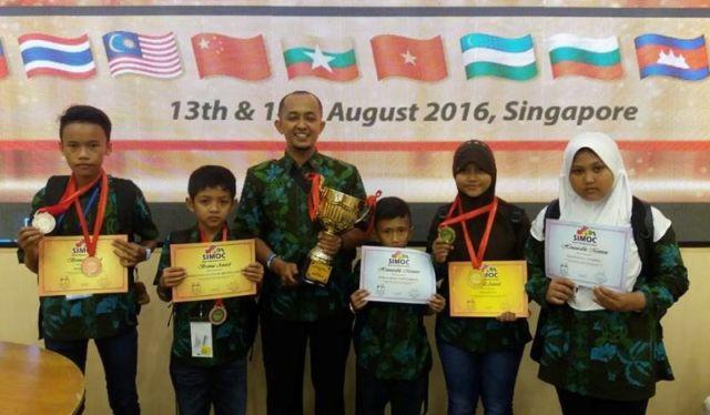 Siswa Madrasah NU Raih Juara Olimpiade Matematika Internasional di Singapura
