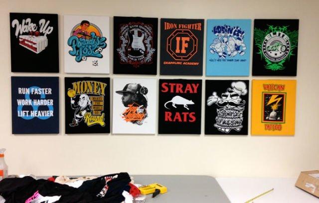T-shirt wall decor