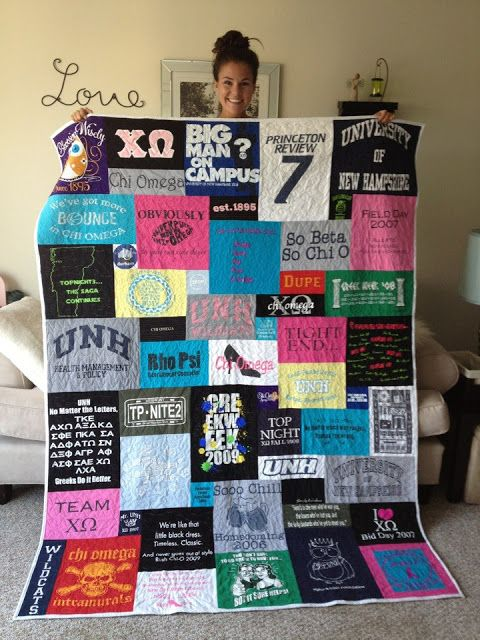 Blanket from T-shirts