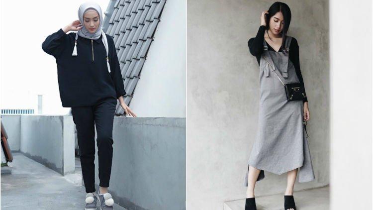 15 Inspirasi Baju Warna Gelap Buat Cewek Kurus - yang