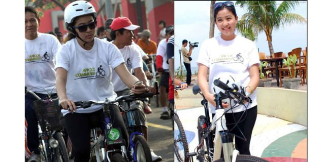 Saat mengikuti kegiatan bersepeda