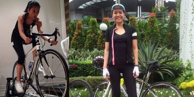 Sigi yang hobi bersepeda road bike