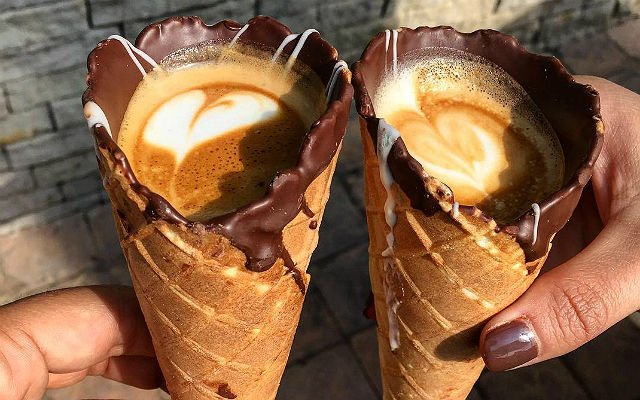 #coffeeinacone couple