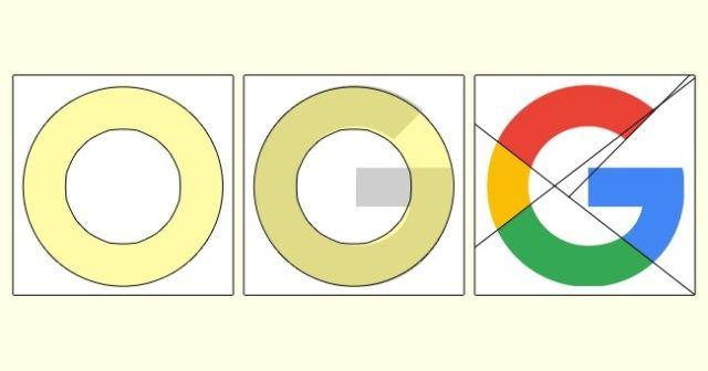 Logo Google tidak mengandung satu elemen bulat.