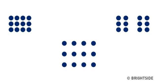 Semua titik-titik di bawah ini memiliki ukuran yang sama.