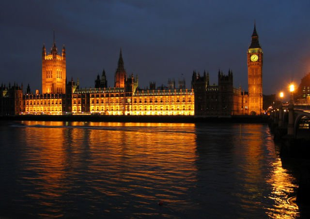 Malam di Westminster Palace
