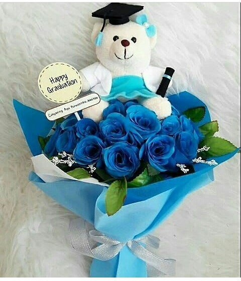 buket bunga biru